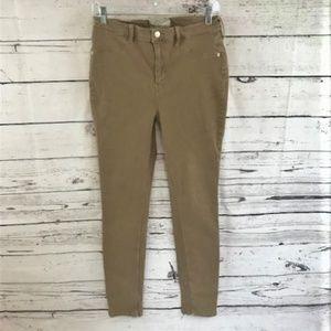 Free People brown skinny corduroy jeans size 30
